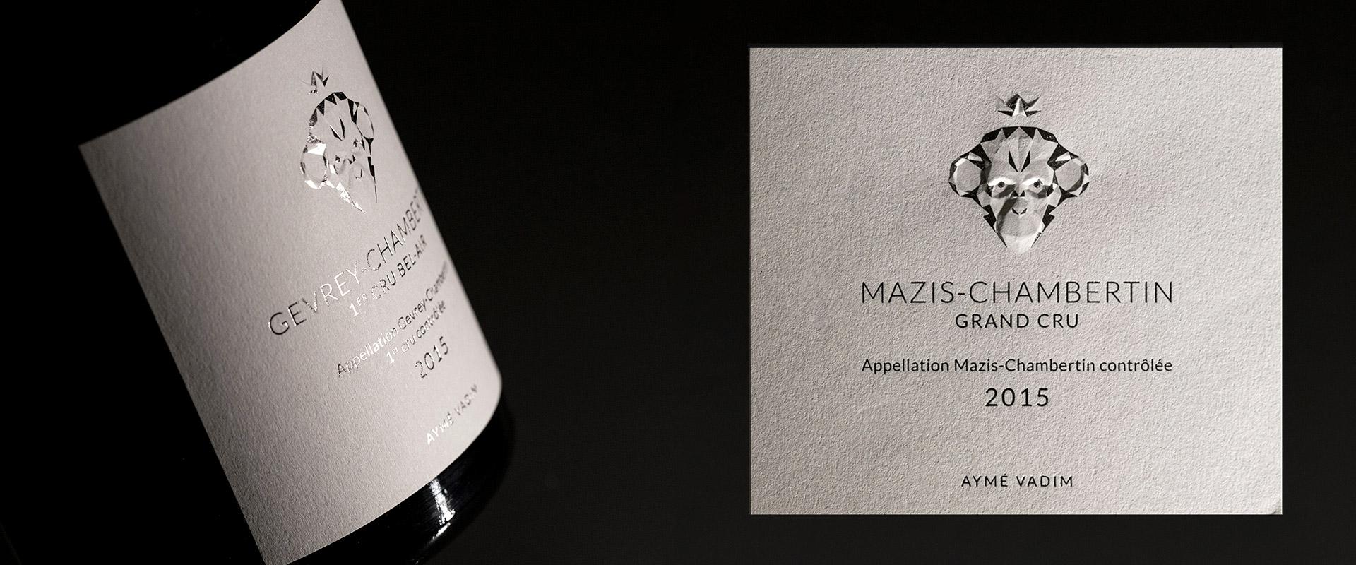 Aymé Vadim Epok design étiquette vin graphisme gaufrage 3D