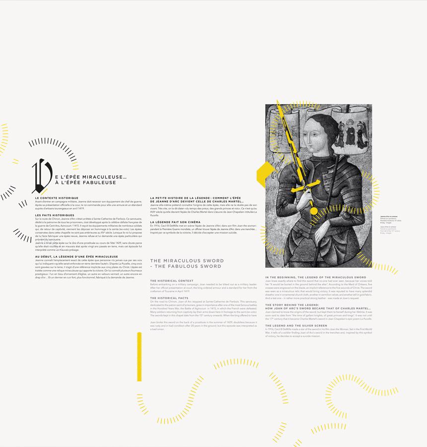 Mythes et légendes de la forteresse Royale de Chinon Saga Epok Design signalétique