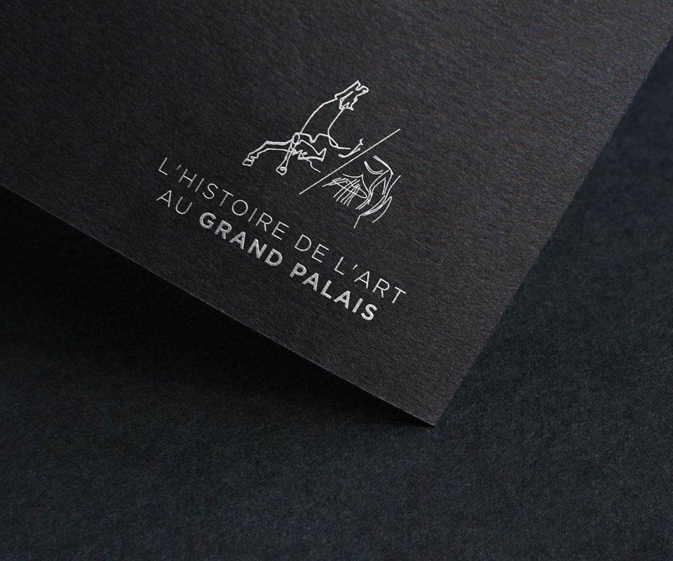 logo histoire de l'art au grand palais rmngp cheval picasso