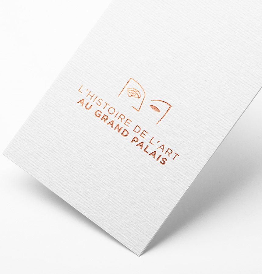 logo identité Histoire de l'art au Grand Palais - RMNGP / par Epok Design
