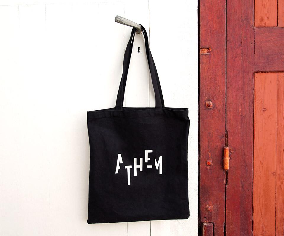 tote bag athem epok design logo