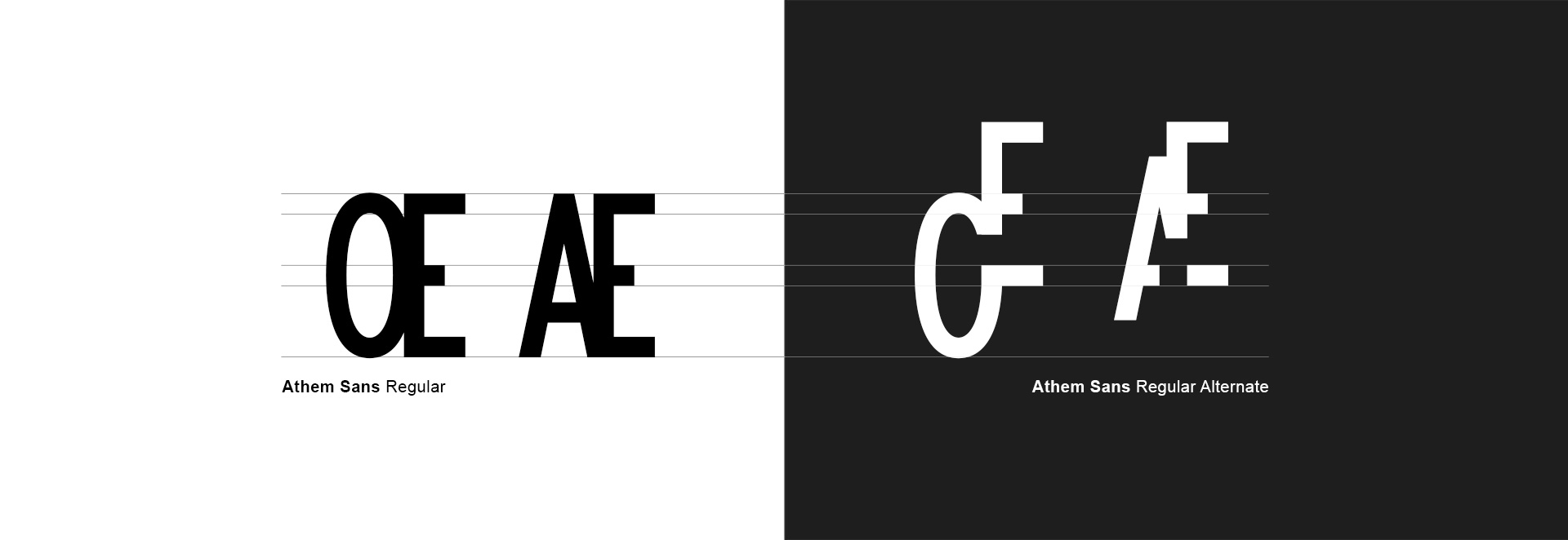 alphabet athem sans typographie