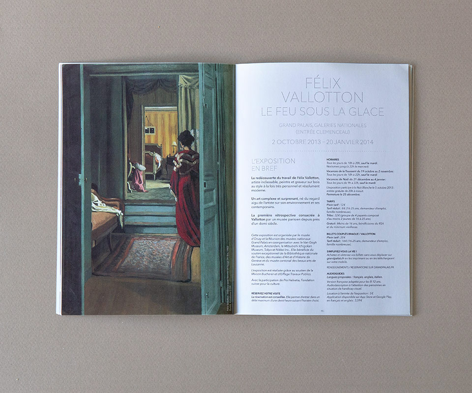 catalogue des expositions grand palais - graphisme par epok design
