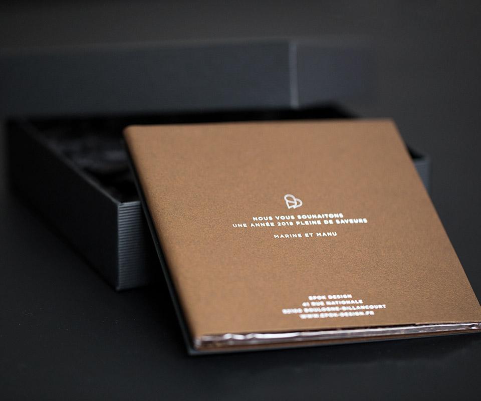 epok design carte de voeux decoupe laser fedrigoni sirio