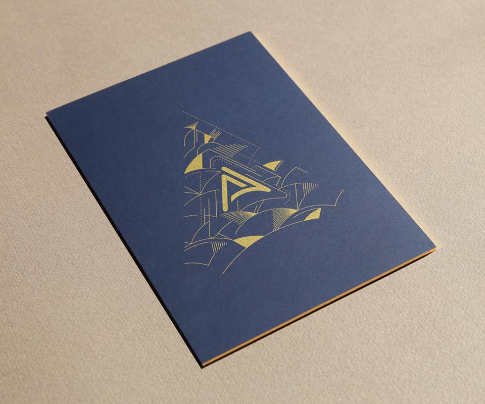 Epok design-art deco carte de voeux 2020