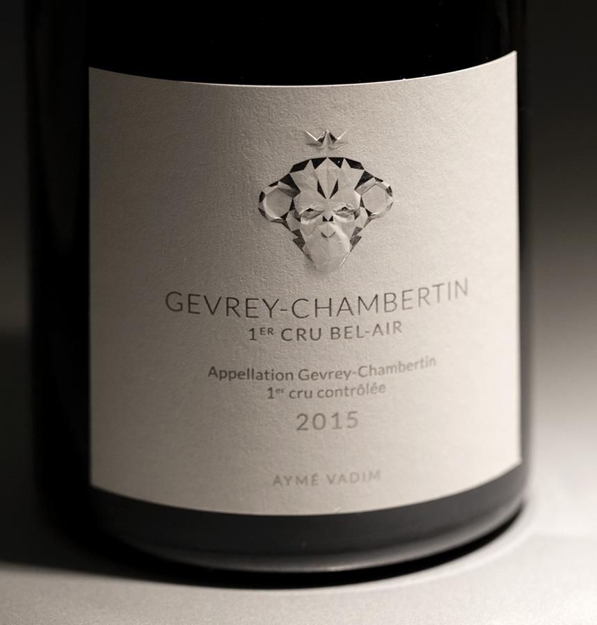 Aymé Vadim Epok design étiquette vin graphisme