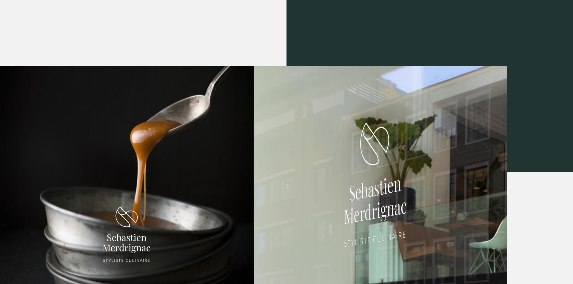 Zpok-design-identite-visuelle-logotype-styliste culinaire-vitrophanie