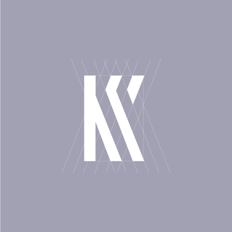 Design graphique, identité visuelle, structure du monogramme Kostos